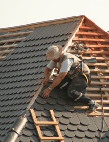 Working on Roof, Property Conversions in Spalding, Lincolnshire